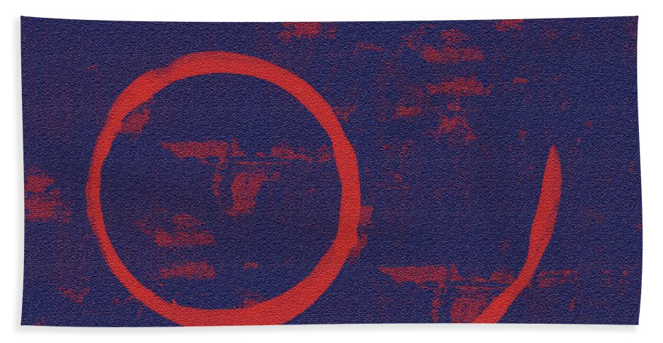 Red Beach Towel featuring the painting Eclipse by Julie Niemela