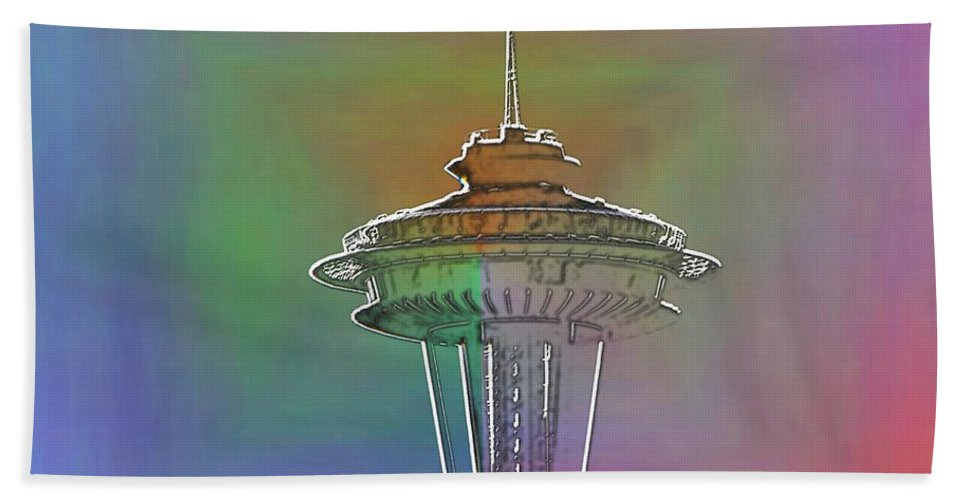 Seattle Beach Towel featuring the photograph Edge Of The Needle by Tim Allen