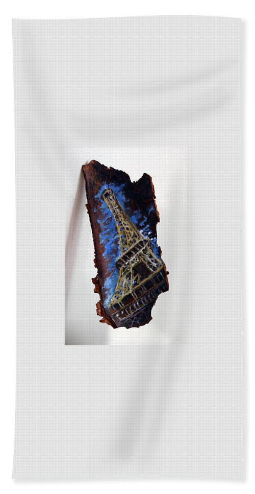 Landscape Beach Towel featuring the painting Eifel by Pablo de Choros
