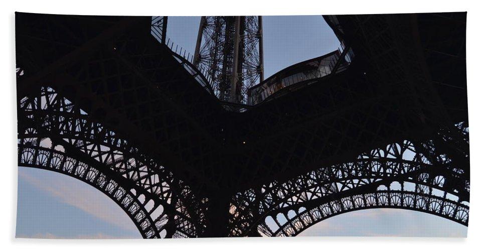 Eiffel Tower Beach Towel featuring the photograph Eiffel Tower Corner by Dawn Crichton