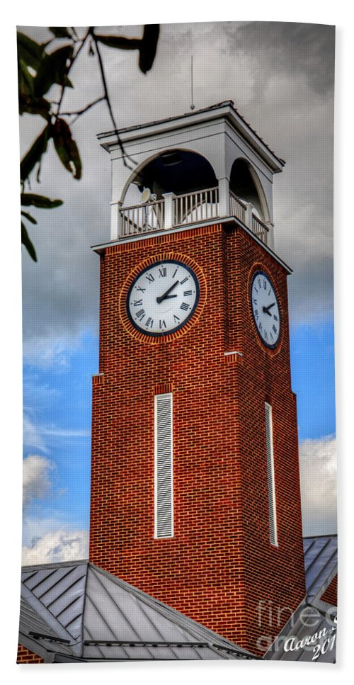 Clock Beach Towel featuring the photograph Eight Past Three by Aaron Shortt