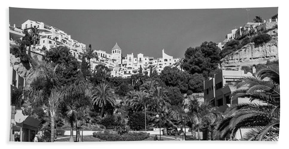 Mediterranean Beach Towel featuring the photograph El Capistrano, Nerja by John Edwards