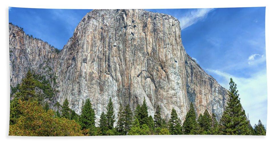 John Bailey Beach Towel featuring the photograph El Capitan In Yosemite National Park by John M Bailey