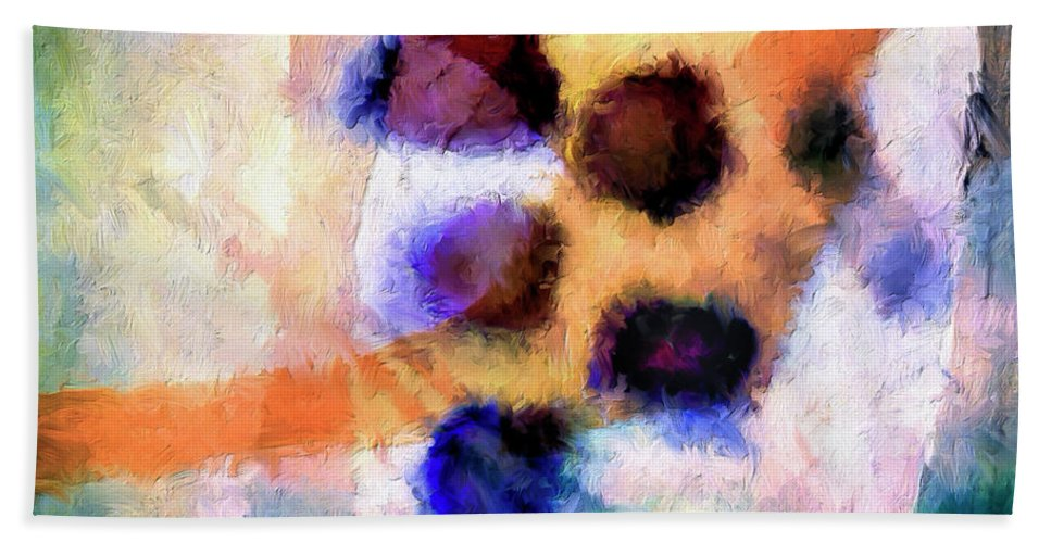 Abstract Beach Towel featuring the painting El Paso Del Tiempo by Dominic Piperata