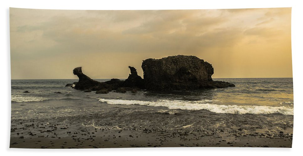 Surfer Beach Towel featuring the photograph El Tunco I by Totto Ponce