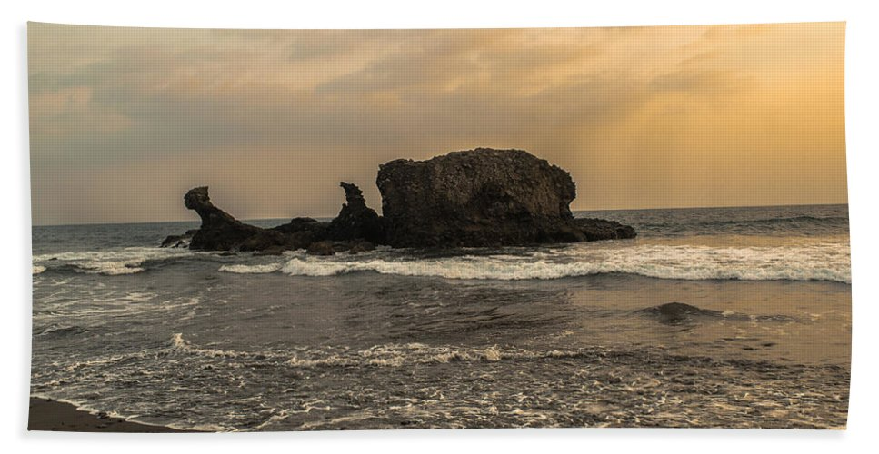 Surfer Beach Towel featuring the photograph El Tunco II by Totto Ponce