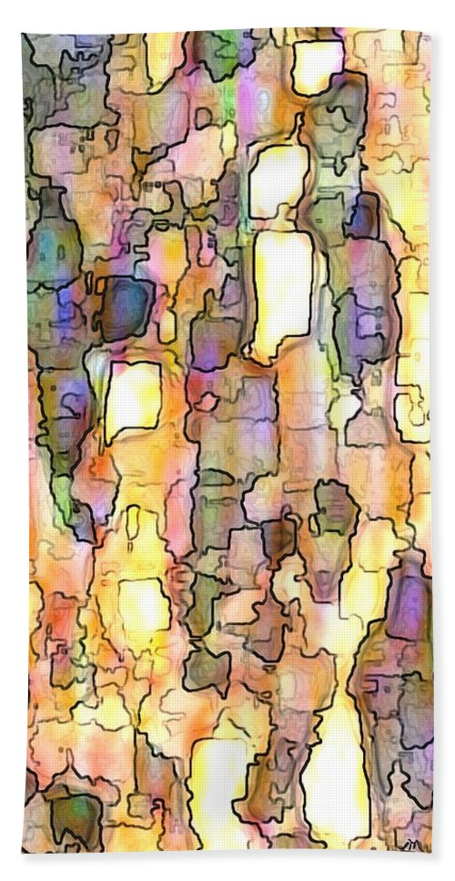 Abstract Beach Towel featuring the digital art Elation Panel Two Of Two by Linda Mears