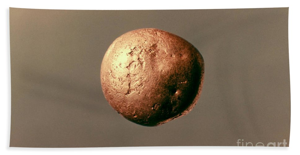 1100 B.c. Beach Towel featuring the photograph Electrum Nugget, C1100 B.c by Granger