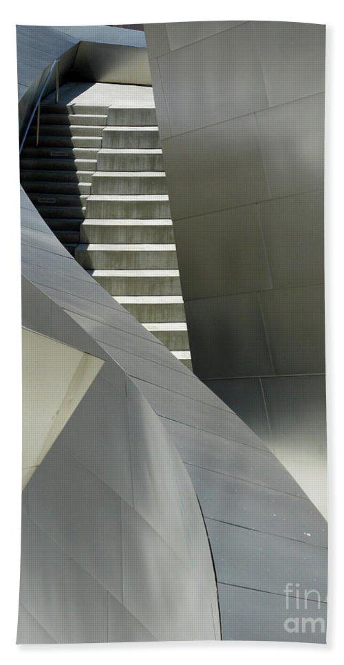 Steel Beach Towel featuring the photograph Elegance Of Steel And Concrete by Ausra Huntington nee Paulauskaite