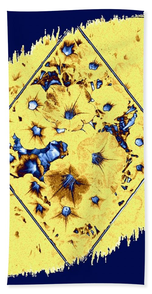 Elegant Petunia Abstract Beach Towel featuring the digital art Elegant Petunia Abstract by Will Borden
