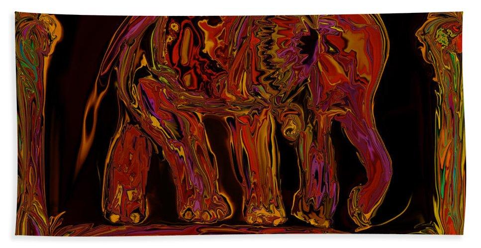 Animal Beach Towel featuring the digital art Elephant by Rabi Khan