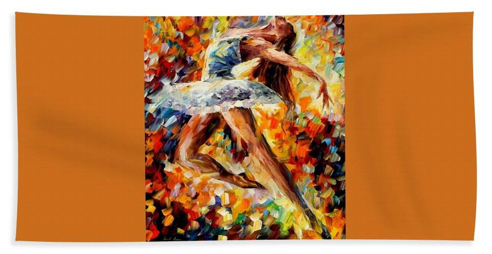 Afremov Beach Towel featuring the painting Elevation by Leonid Afremov