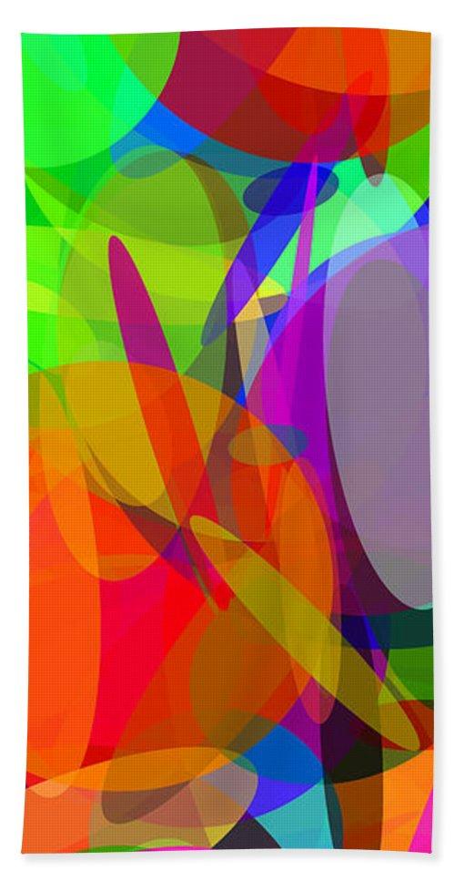 Ellipse Beach Towel featuring the digital art Ellipses 6 by Chris Butler