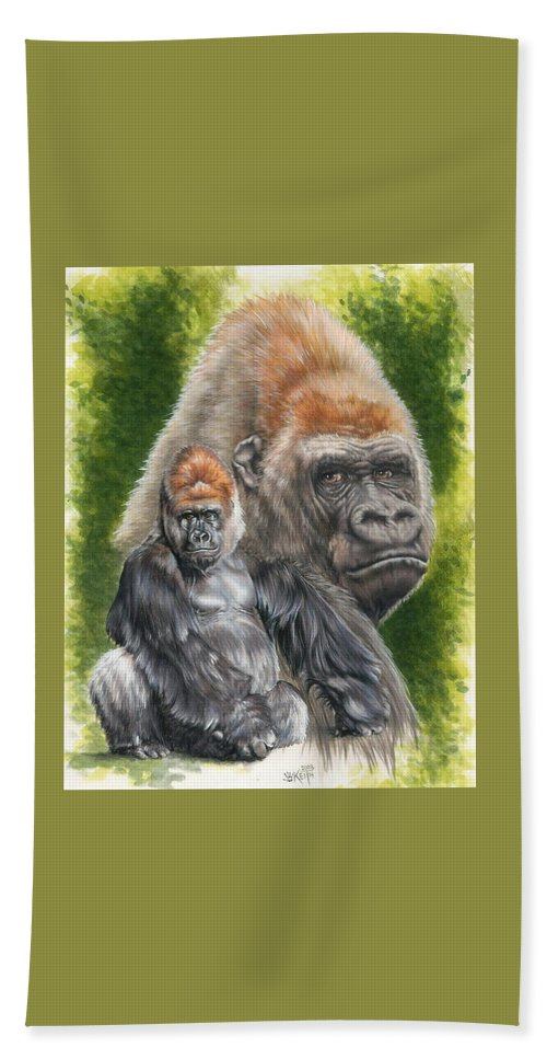 Gorilla Beach Towel featuring the mixed media Eloquent by Barbara Keith