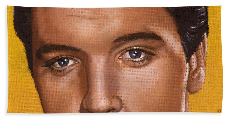 Elvis Beach Towel featuring the painting Elvis 24 1965 by Rob De Vries