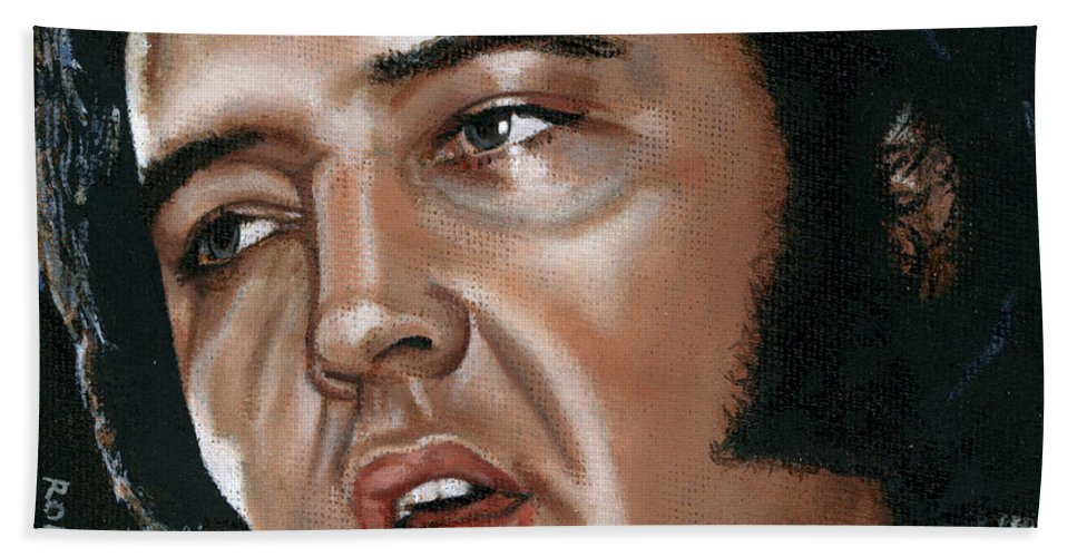 Elvis Beach Towel featuring the painting Elvis 24 1975 by Rob De Vries