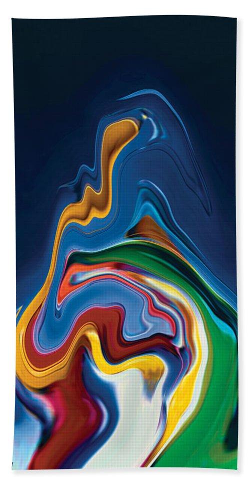 Beach Towel featuring the digital art Embrace by Rabi Khan
