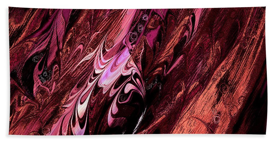 Abstract Beach Towel featuring the digital art Embryos by Rachel Christine Nowicki