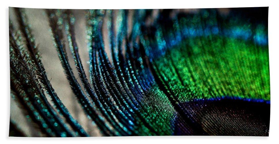 Lisa Knechtel Beach Towel featuring the photograph Emerald Shadows by Lisa Knechtel