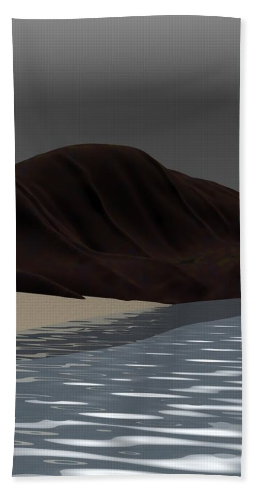 Abstract Beach Sheet featuring the digital art Emotion by David Lane