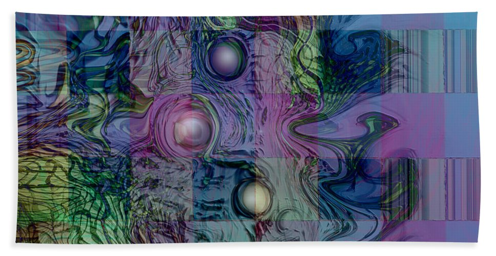 Emotions Block Beach Towel featuring the digital art Emotions Block by Linda Sannuti