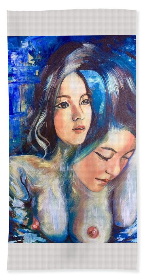 Beach Towel featuring the painting Emotions by Niti Is a painter