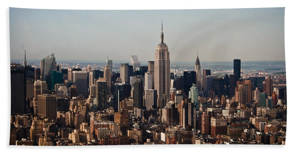 Nyc Beach Towel featuring the photograph Empire State Of Mind by Robert J Caputo