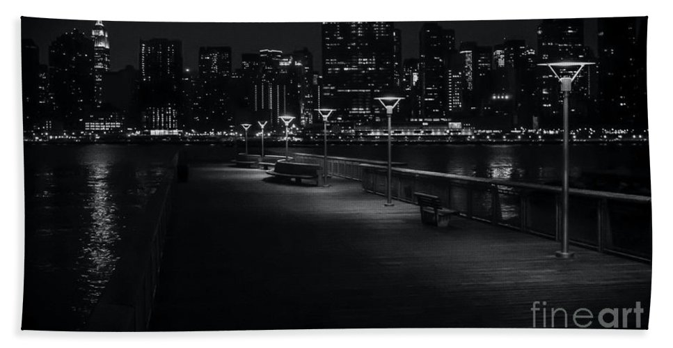 Empire State Building Beach Towel featuring the photograph Empire State Skyline by James Aiken