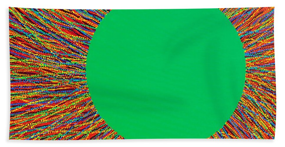 Contemporary Beach Towel featuring the painting Empty Cup 1 by Kyung Hee Hogg