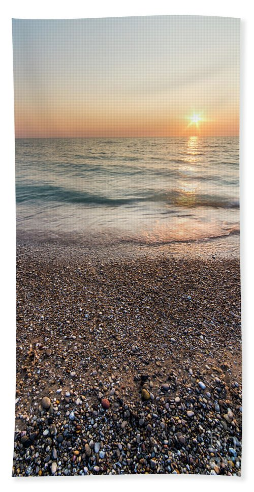 Pierport Beach Towel featuring the photograph End Of The Day At Pierport by Twenty Two North Photography