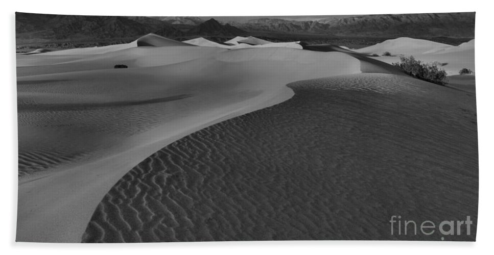 Black And White Beach Towel featuring the photograph Endless Dunes Black And White by Adam Jewell