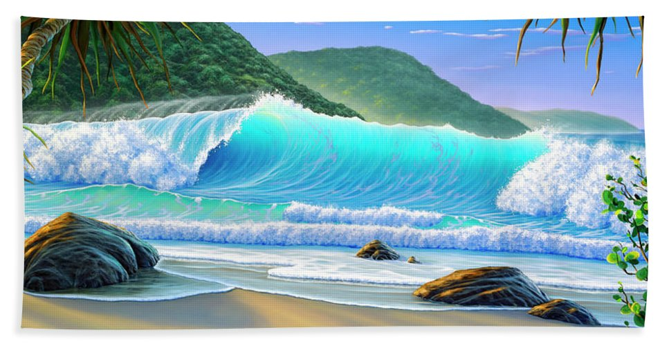 ffda99097097 Beach Beach Towel featuring the painting Endless Summer by Scott Christensen