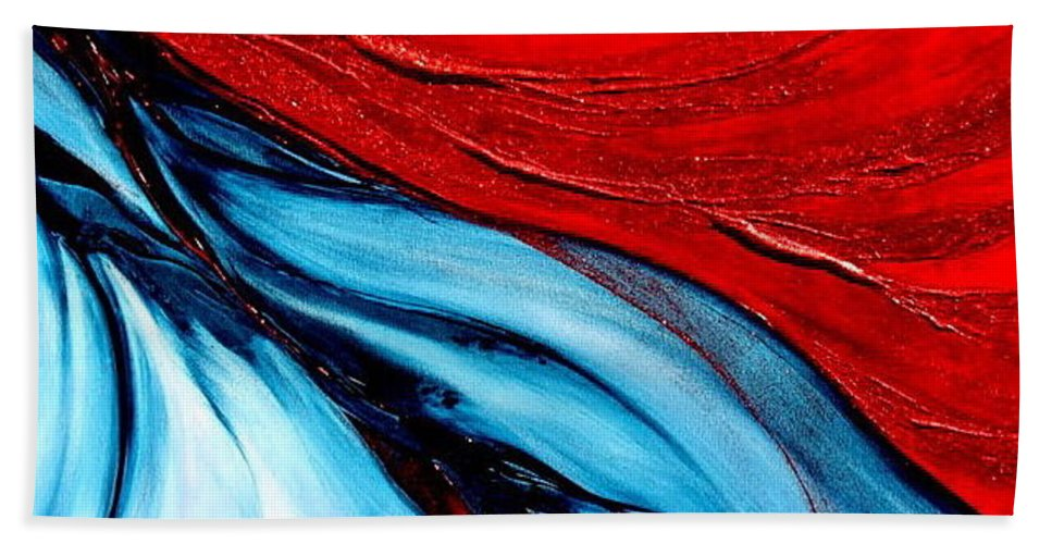 Energy.sun Beach Towel featuring the painting Energy by Kumiko Mayer