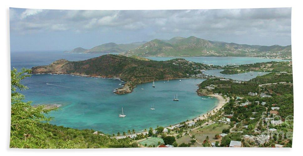 Antigua Beach Towel featuring the photograph English Harbour Antigua by John Edwards