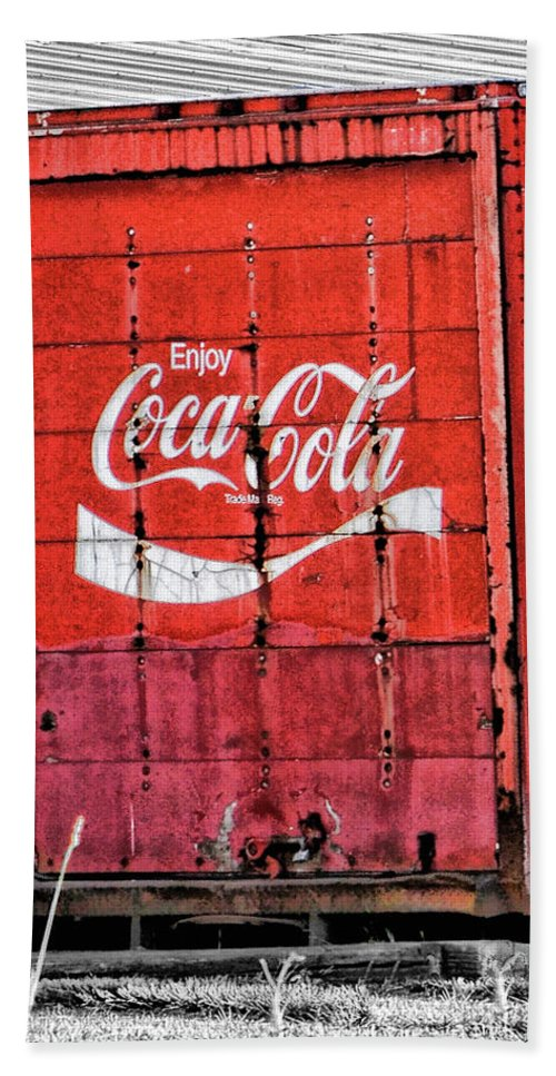 Coca Cola Beach Towel featuring the photograph Enjoy by Traci Cottingham