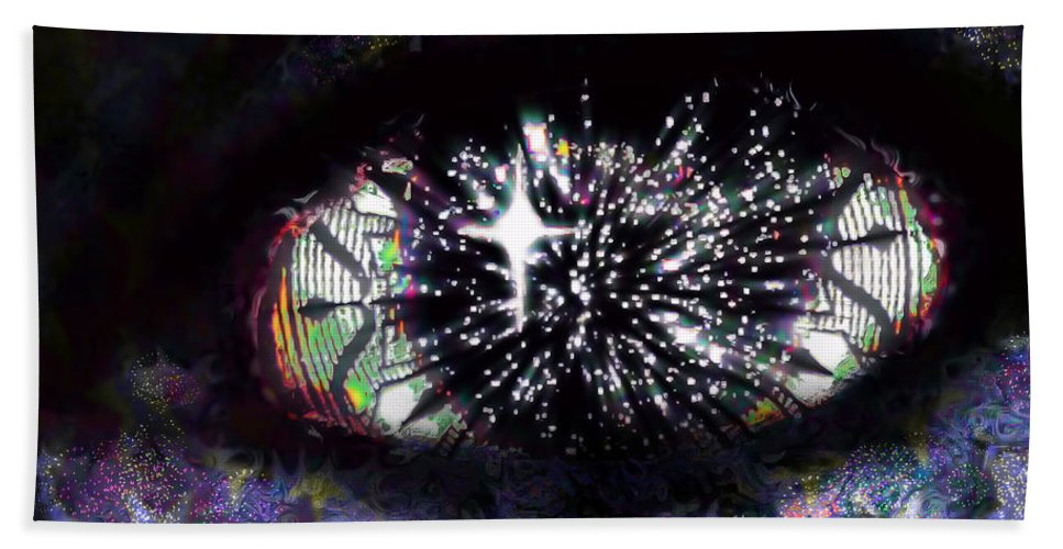 Eye Beach Towel featuring the digital art Enlightenment by Iowan Stone-Flowers