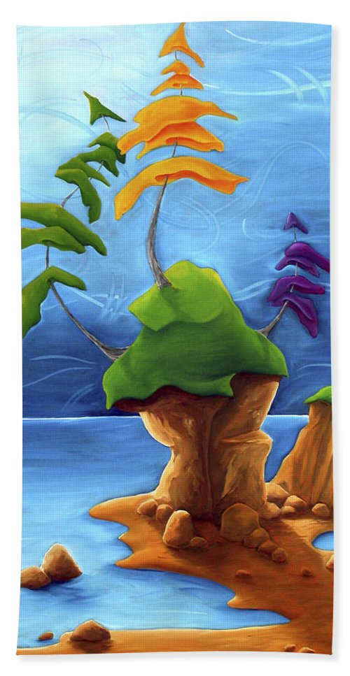 Landscape Beach Towel featuring the painting Enraptured by Richard Hoedl