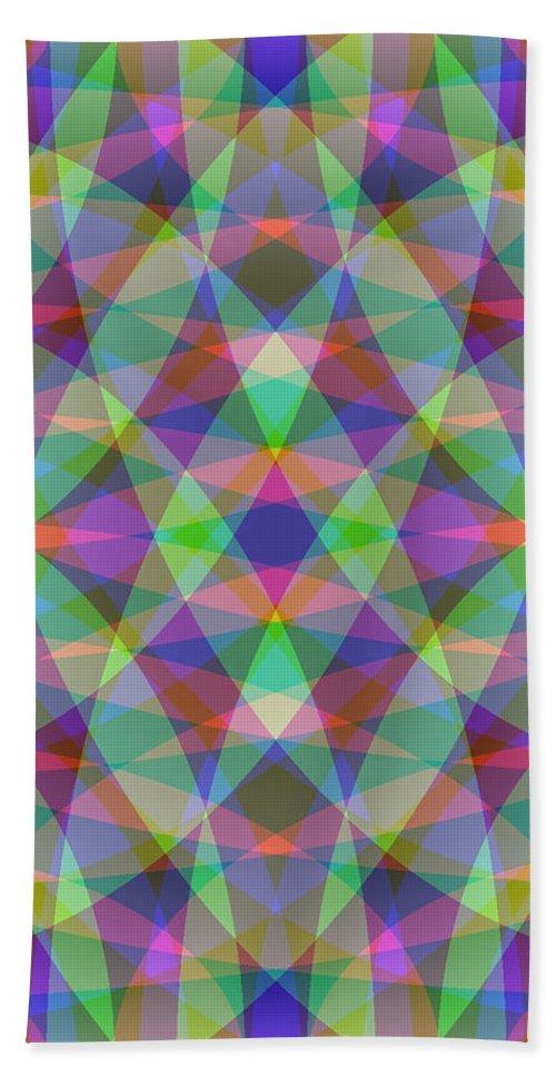 Electronic Beach Towel featuring the digital art Entangled Curves Three by Joel Kahn