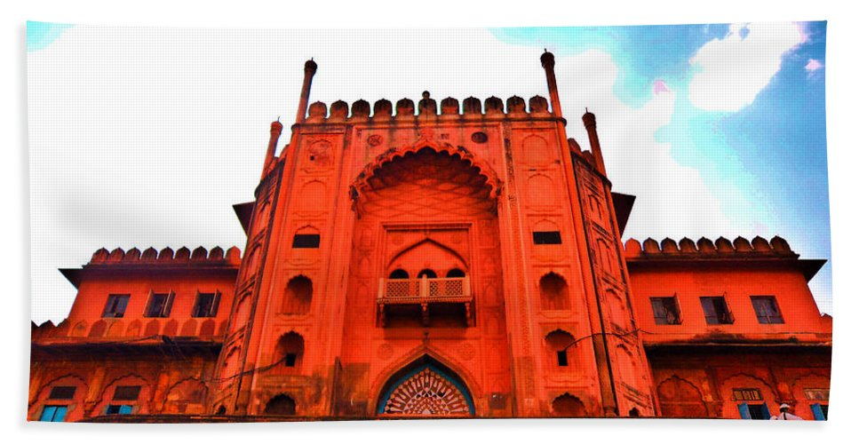 Architecture Beach Towel featuring the photograph #entrance Gate by Aakash Pandit