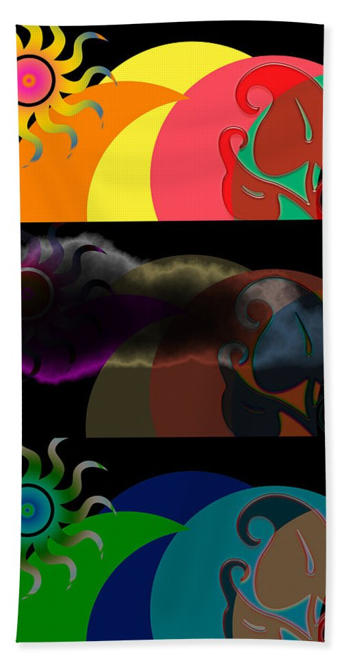 Beach Towel featuring the digital art Environment by Clayton Bruster