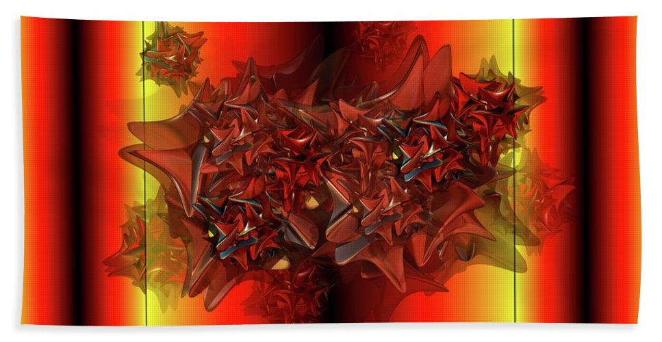 Things That Are Similar In Red Beach Towel featuring the digital art Ephemeral by Ron Bissett