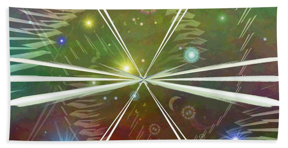 Epiphany Beach Towel featuring the digital art Epiphany by Tim Allen