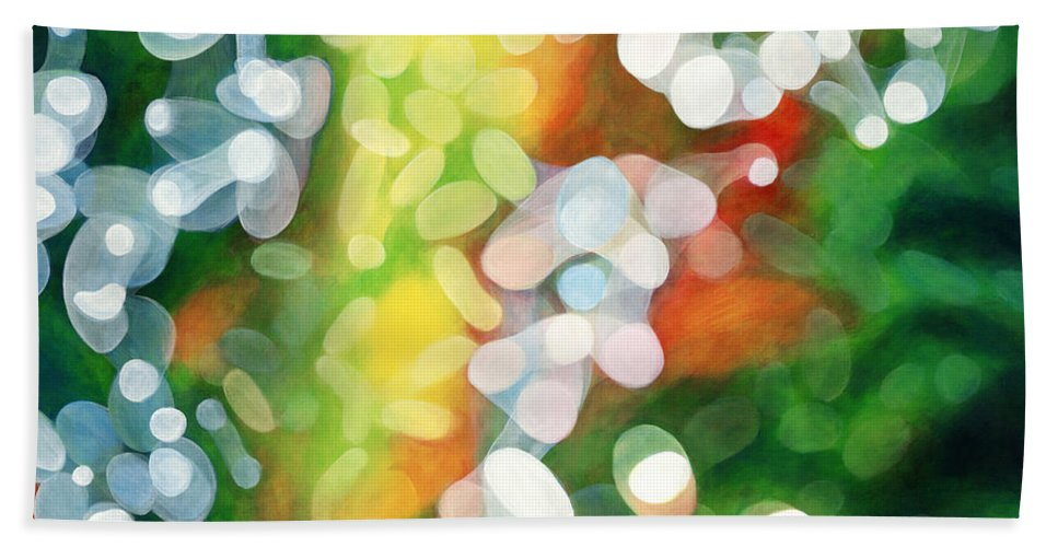 Queen Beach Towel featuring the painting Eriu Queen of the Emerald Isle by Antony Galbraith