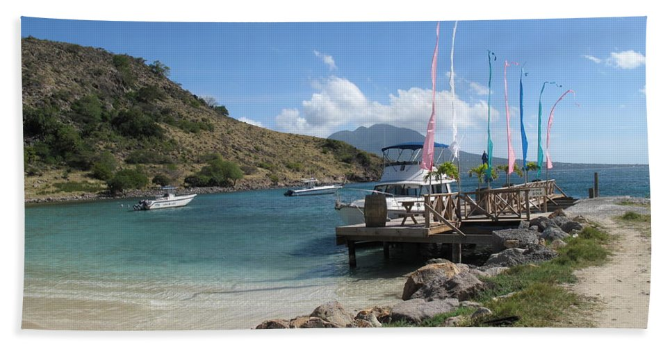 St Kitts Beach Towel featuring the photograph Escape To A Warmer Sunnier Place by Ian MacDonald
