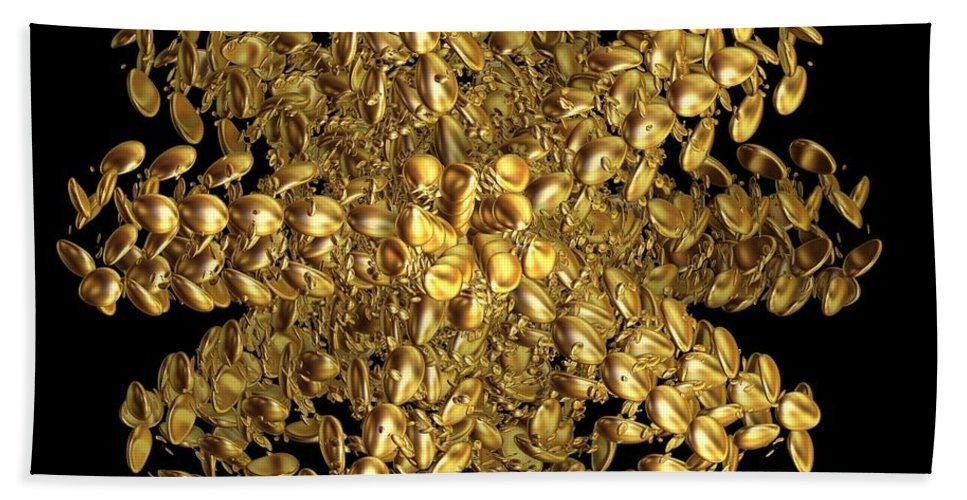 Gold Beach Towel featuring the digital art Essence Of Alchemy by Leslie Revels