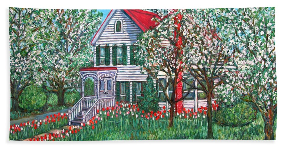 Home Beach Sheet featuring the painting Esther's Home by Kendall Kessler