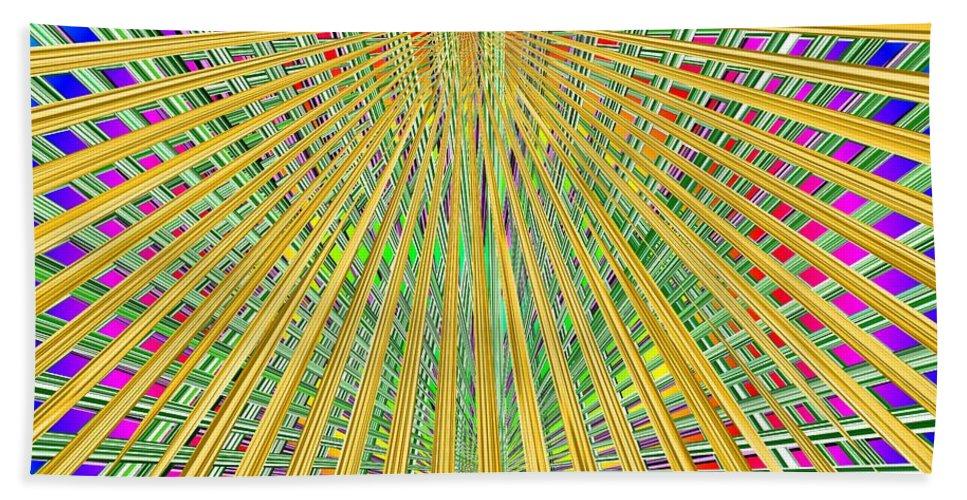 Loom Beach Towel featuring the digital art Eternal Loom by Tim Allen