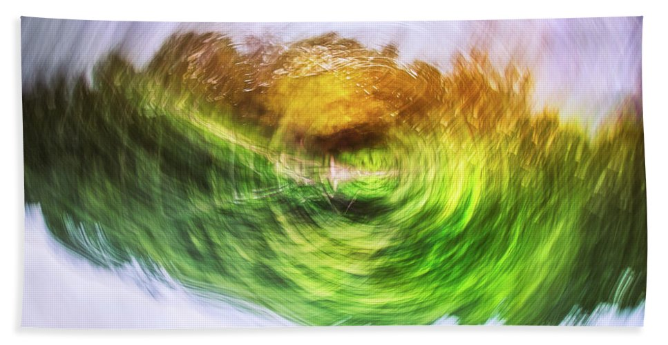 Abstract Beach Towel featuring the photograph Eternally Spinning by Scott Norris
