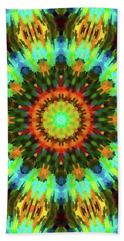 Mandala Art Beach Towel featuring the painting Eternity by Jeelan Clark