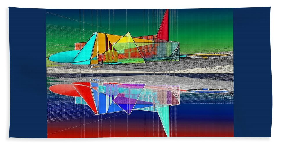 Cathedral Beach Towel featuring the digital art Ethereal Reflections by Don Quackenbush